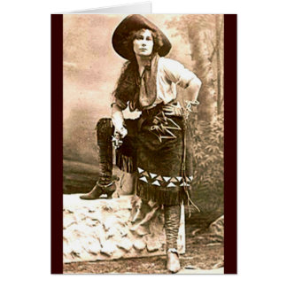 Western Female Frontier Guide Vintage Card