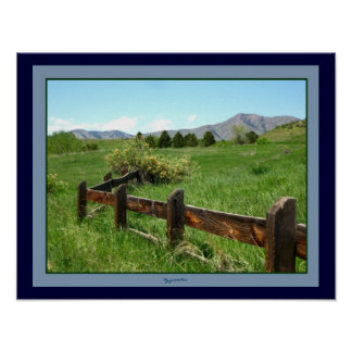 Western Fence Photo Poster by gretchen