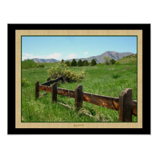 Western Fence Two Photo Poster by Gretchen