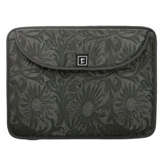 Western Floral Tool Leather Pattern Rickshaw Macbo Sleeve For MacBooks