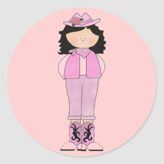 Western Fun Cowgirl Pretty in Pink Stickers