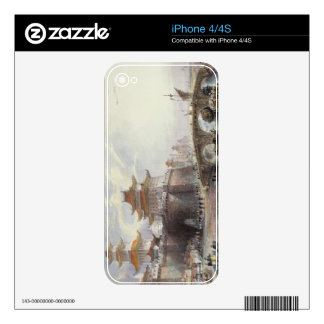 Western Gate of Peking, c.1850 (colour litho) iPhone 4S Decal