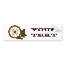 Western Gear Bumper Sticker