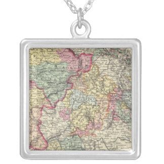 Western Germany 2 Square Pendant Necklace