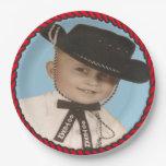 Western Go Texan Cowboy Party Paper Plates