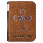Western God Bless The Cowboy Kindle Case