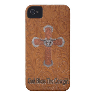 Western God Bless The Cowgirl IPhone 4 Case