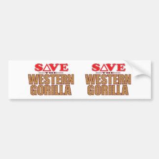 Western Gorilla Save Bumper Sticker