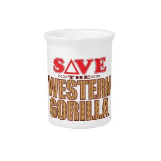 Western Gorilla Save Drink Pitcher