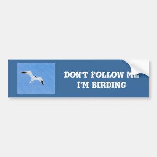 Western Grebe Birder Bumper Sticker