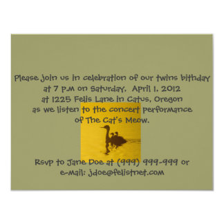 Western Grebe twins riding invitation