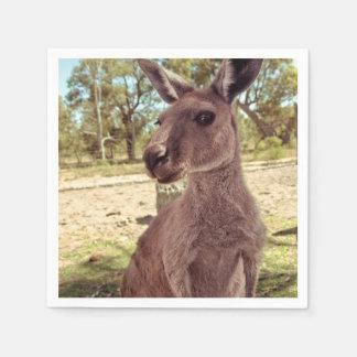 Western Grey Kangaroo Joey Paper Napkin