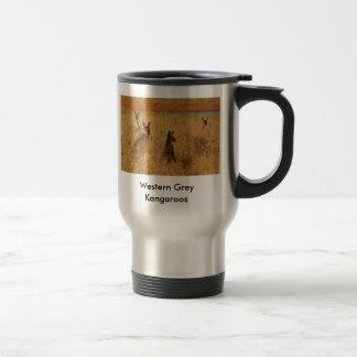 Western Grey Kangaroos Travel Mug