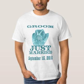 Western Groom Just Married Wedding T-Shirts