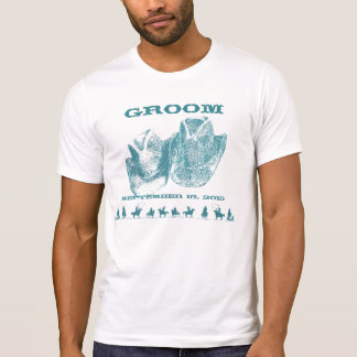 Western Groom Wedding Party T-Shirts