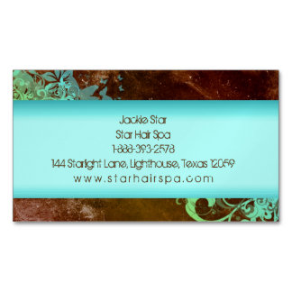 Western Grunge Vintage Beauty Floral Fashion Hair Business Card Magnet