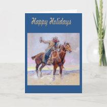 Western Happy Holidays Cowboy Greeting Card