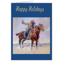 Western Happy Holidays Cowboy Greeting Card