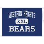 Western Heights Bears Middle Hagerstown Greeting Card