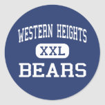 Western Heights Bears Middle Hagerstown Round Sticker