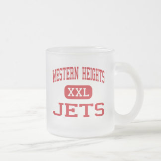 Western Heights - Jets - Junior - Oklahoma City 10 Oz Frosted Glass Coffee Mug