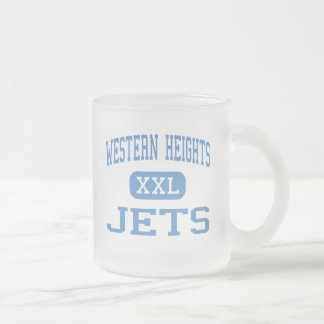 Western Heights - Jets - Senior - Oklahoma City 10 Oz Frosted Glass Coffee Mug