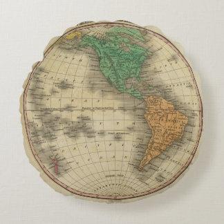 Western Hemisphere 16 Round Pillow