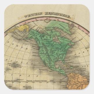Western Hemisphere 16 Square Sticker