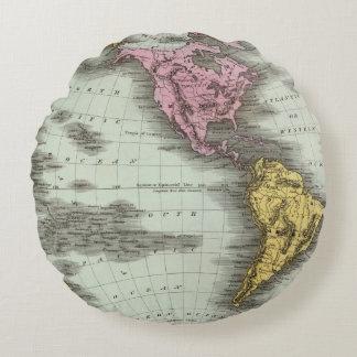 Western Hemisphere 18 Round Pillow