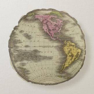 Western Hemisphere 4 Round Pillow