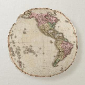 Western Hemisphere 5 Round Pillow
