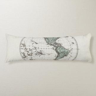 Western Hemisphere Atlas Map Body Pillow