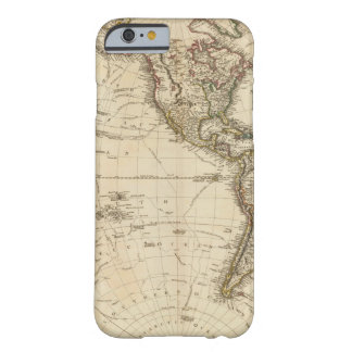 Western Hemisphere Circular Map Barely There iPhone 6 Case