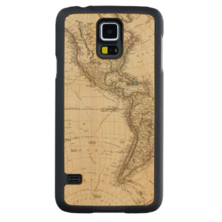 Western Hemisphere Circular Map Carved® Maple Galaxy S5 Case