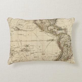 Western Hemisphere Circular Map Decorative Pillow