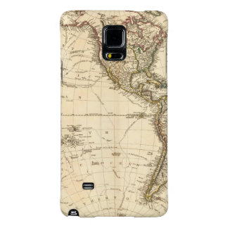 Western Hemisphere Circular Map Galaxy Note 4 Case