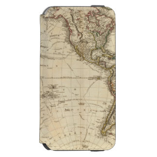 Western Hemisphere Circular Map iPhone 6/6s Wallet Case