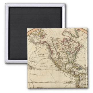 Western Hemisphere Circular Map Magnet