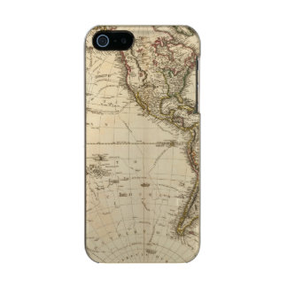 Western Hemisphere Circular Map Metallic Phone Case For iPhone SE/5/5s