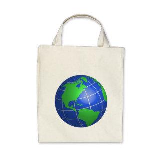 Western Hemisphere Globe Tote Bag