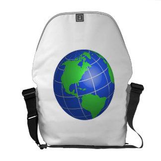 Western Hemisphere Globe Messenger Bags