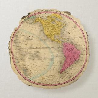 Western Hemisphere Round Pillow