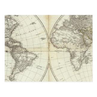 Western Hemisphere or New World Postcard