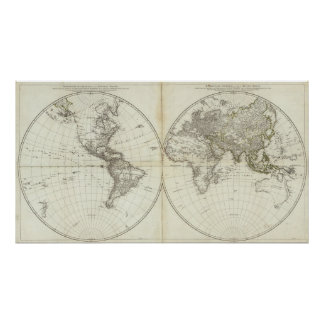 Western Hemisphere or New World Poster