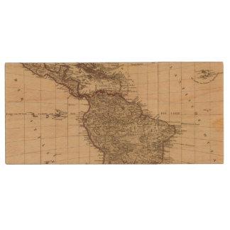 Western Hemisphere, South America Wood USB 2.0 Flash Drive