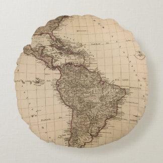 Western Hemisphere, South America Round Pillow