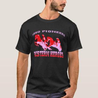 Western Hero Pioneer Black T-shirts