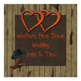 WESTERN HOE DOWN WEDDING INVITATION