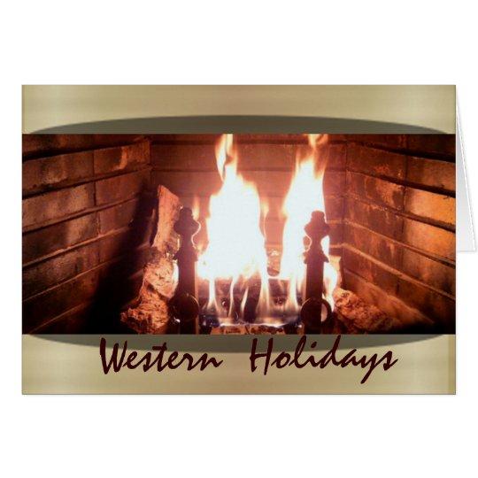 Western Holiday Card
