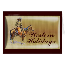 Western Holiday Card